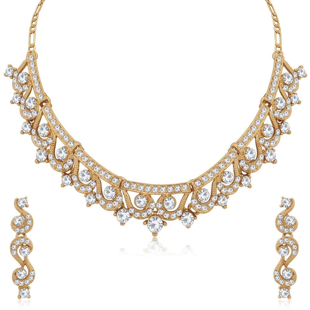 Sukkhi Designer Mehandi Gold Plated Necklace Set for Women