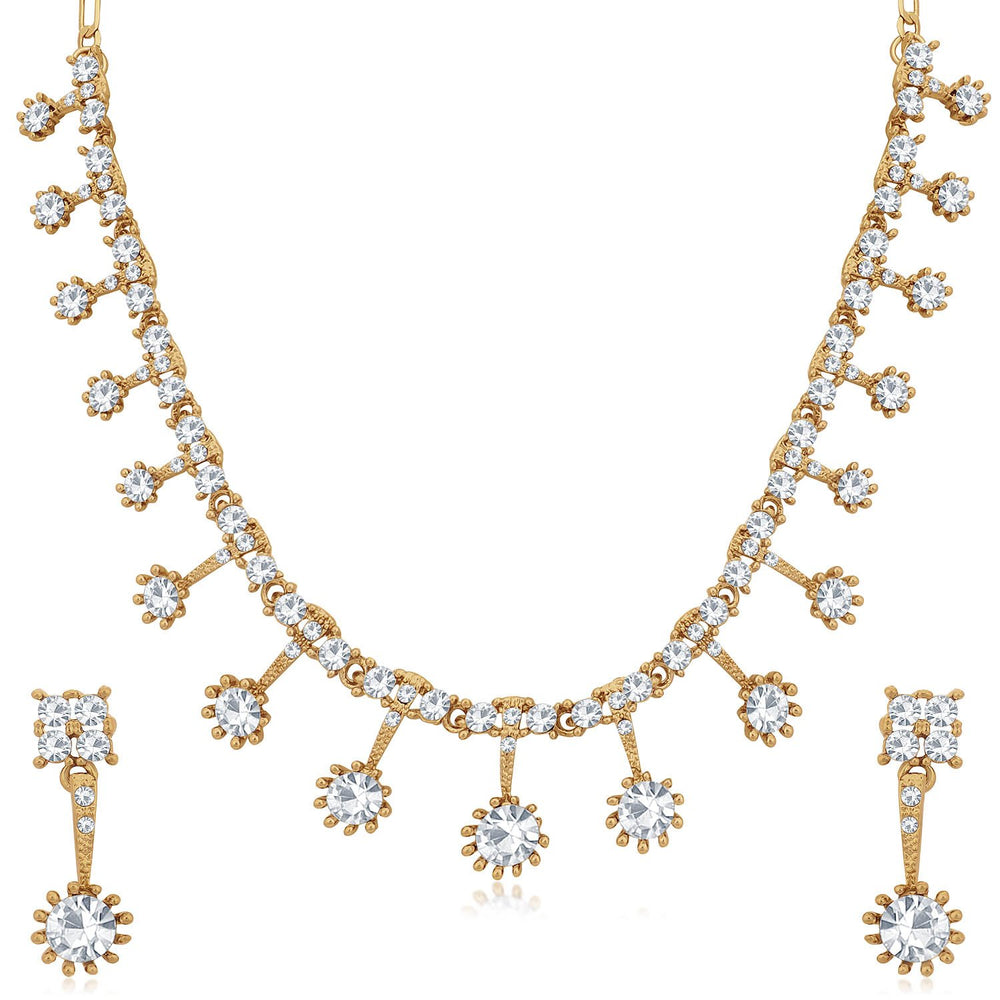 Sukkhi Dazzling Mehandi Gold Plated Necklace Set for Women