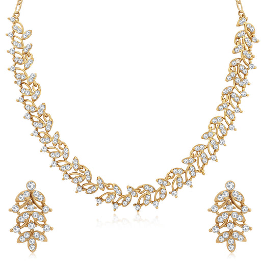 Sukkhi Modern Mehandi Gold Plated Necklace Set for Women