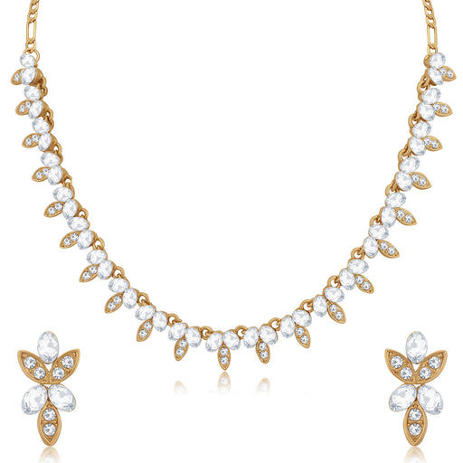 Sukkhi Gorgeous Mehandi Gold Plated Necklace Set for Women