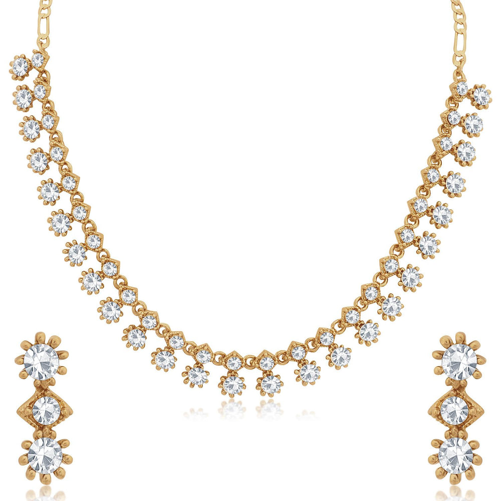 Sukkhi Glimmery Mehandi Gold Plated Necklace Set for Women