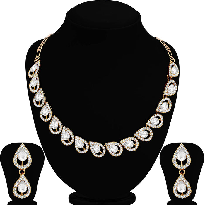 Sukkhi Glitzy Mehandi Gold Plated Necklace Set for Women