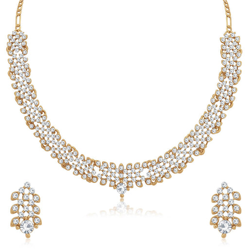 Sukkhi Mesmerizing Mehandi Gold Plated Choker Necklace Set for Women