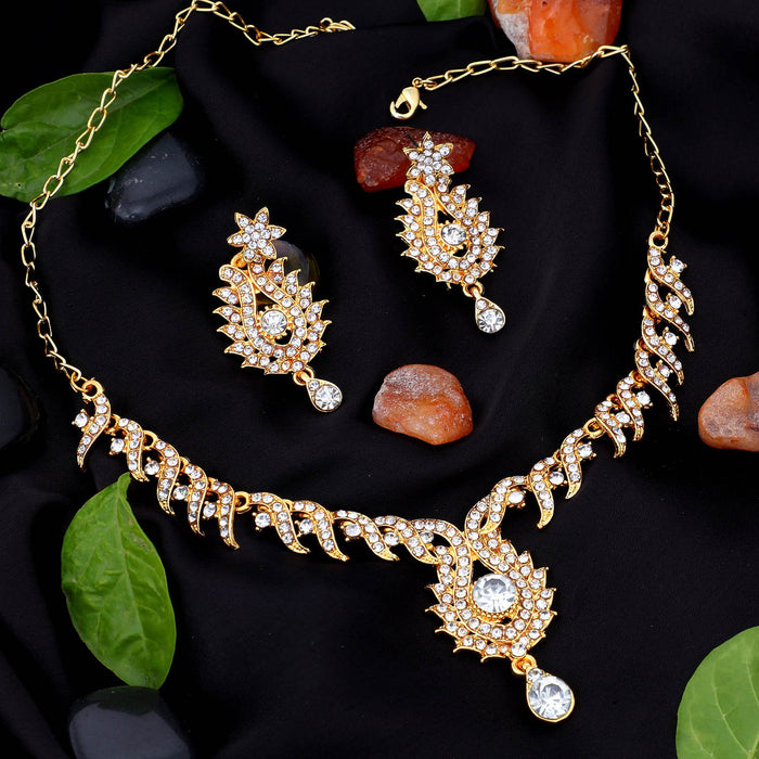 Sukkhi Stunning Gold Plated Collar Necklace Set For Women
