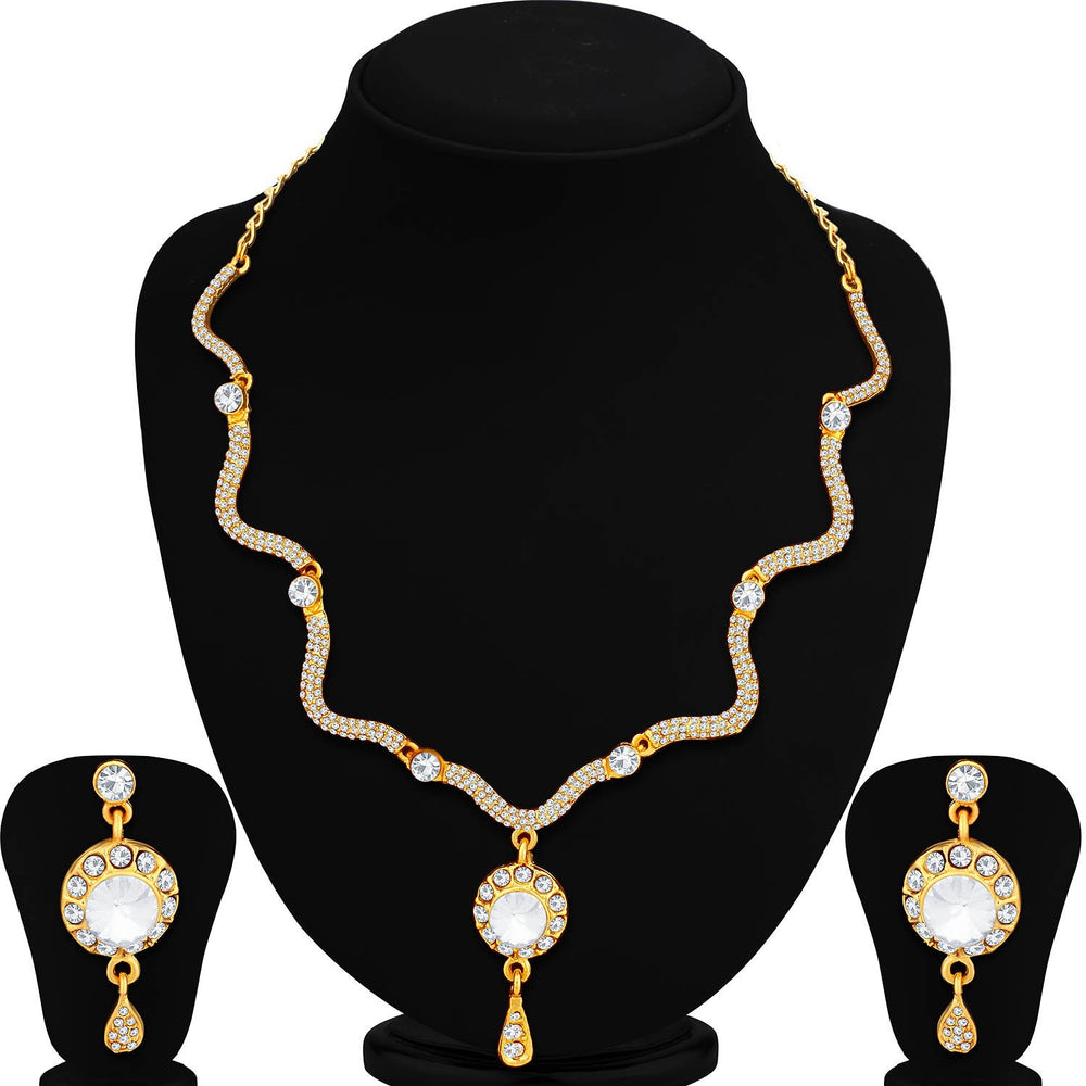 Sukkhi Exotic Gold Plated Collar Necklace Set For Women