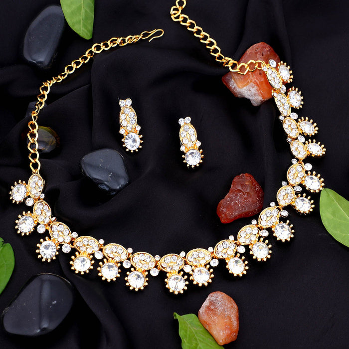 Sukkhi Spectacular Gold Plated Collar Necklace Set For Women