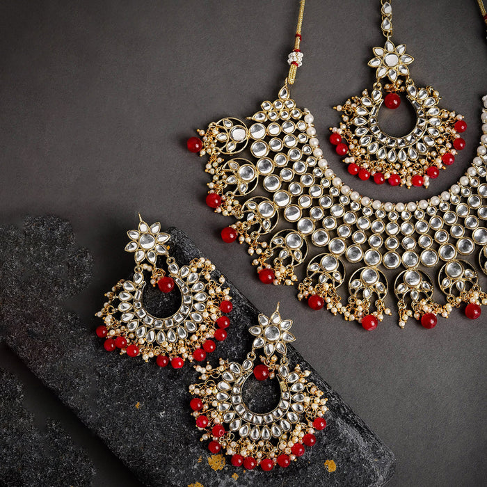 Sukkhi Alluring Kundan Gold Plated Neckalce Set for Women