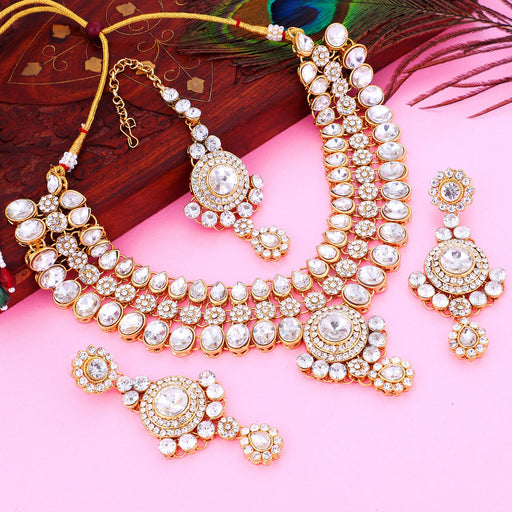 Sukkhi Attractive Gold Plated Choker Necklace Set For Women
