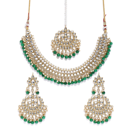 Sukkhi Ritzy Kundan Gold Plated Choker Neckalce Set for Women