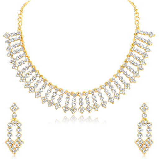 Sukkhi Fabulous Gold Plated Choker Necklace Set for Women