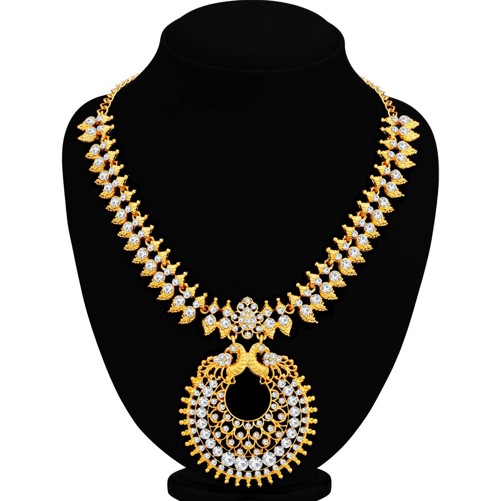 Sukkhi Ethnic Gold Plated Peacock Necklace Set for Women