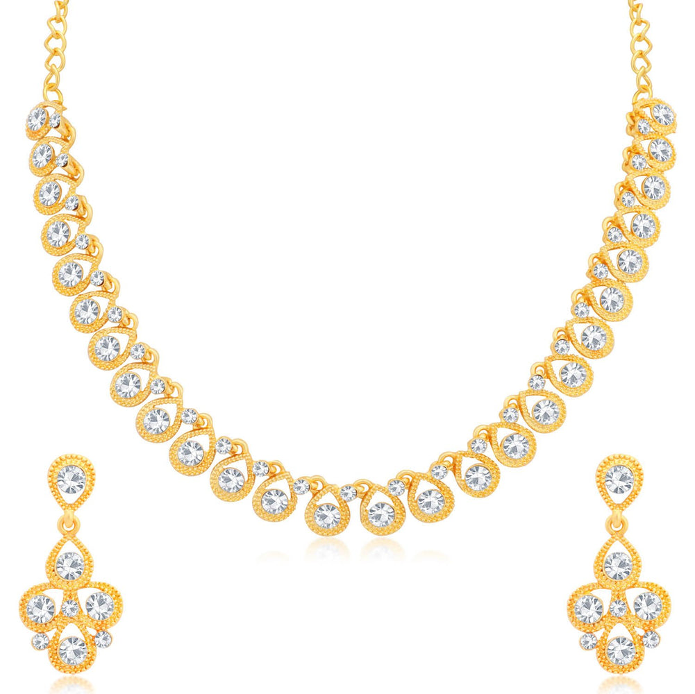 Sukkhi Superior Gold Plated Necklace Set for Women