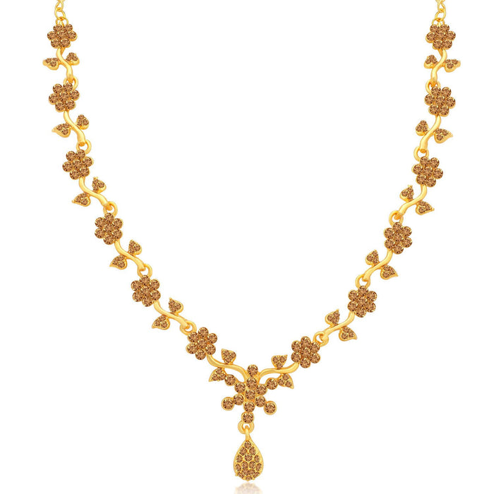 Sukkhi Floral LCT Gold Plated Necklace Set for Women