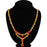 Sukkhi Gleaming LCT and Red Stone Gold Plated Floral Necklace Set for Women