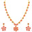 Sukkhi Trendy LCT and Red Stone Gold Plated Necklace Set for Women