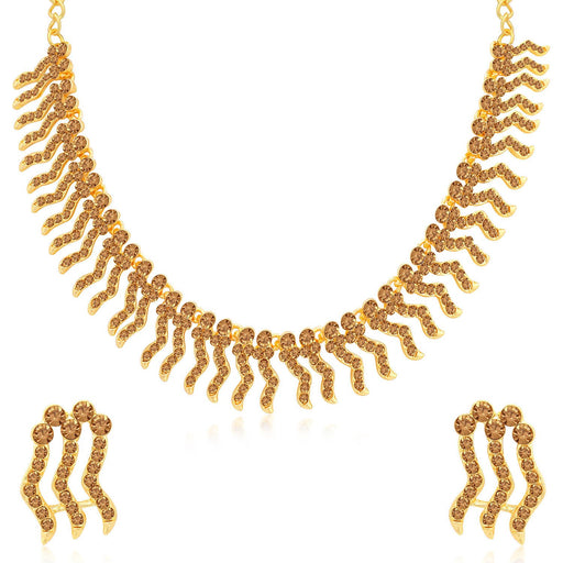 Sukkhi Excellent LCT Gold Plated Choker Necklace Set for Women