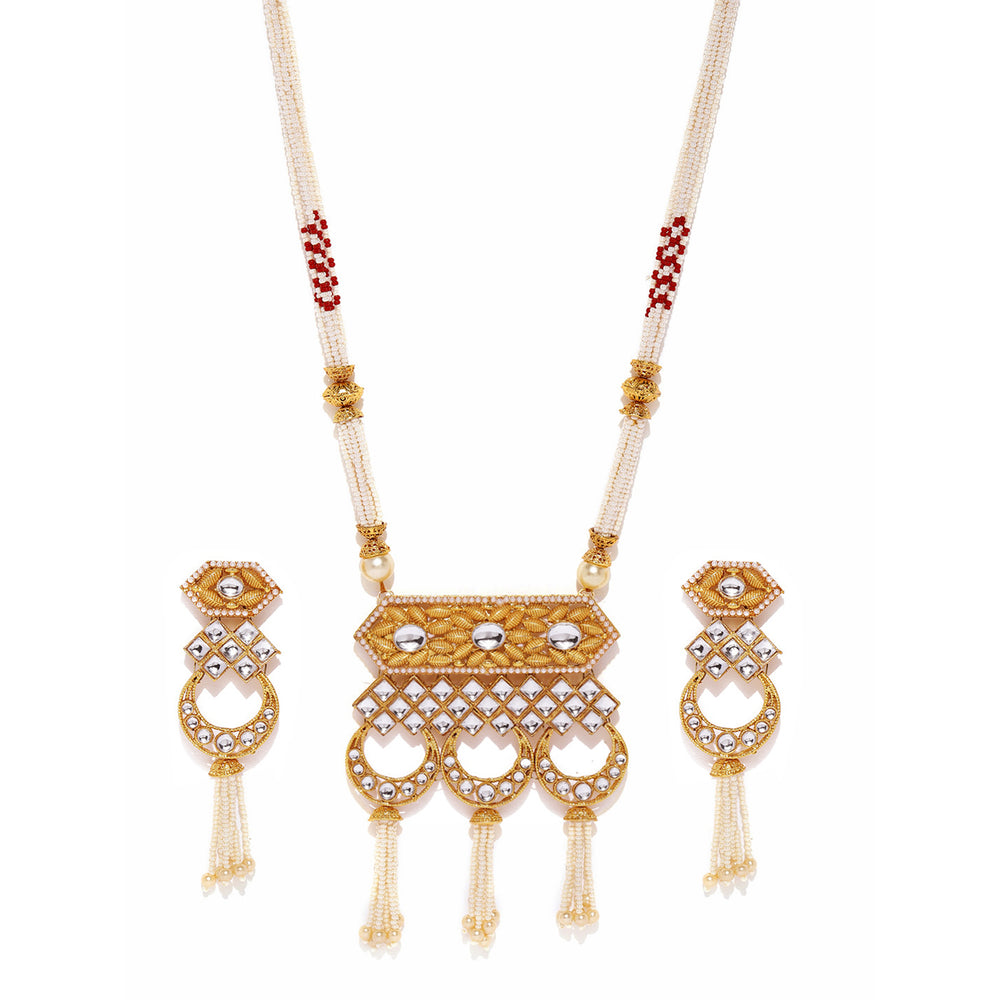Sukkhi Gorgeous Gold Plated Kundan Neckalce Set for Women