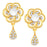 Sukkhi Classy Gold Plated Floral Necklace Set For Women