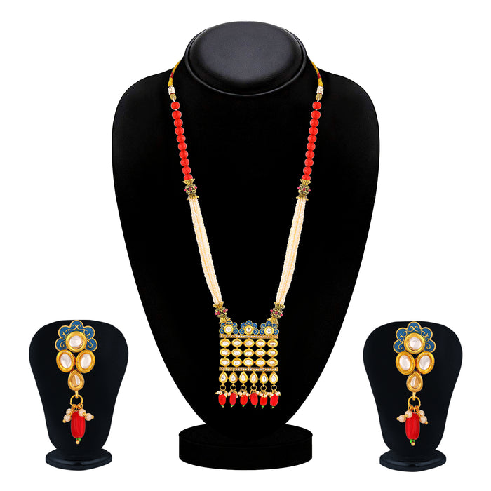 Sukkhi Splendid Collar Gold Plated Necklace Set Set for Women
