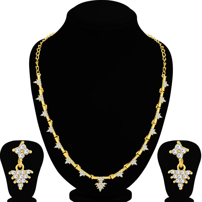 Sukkhi Astonish Gold Plated Necklace Set For Women