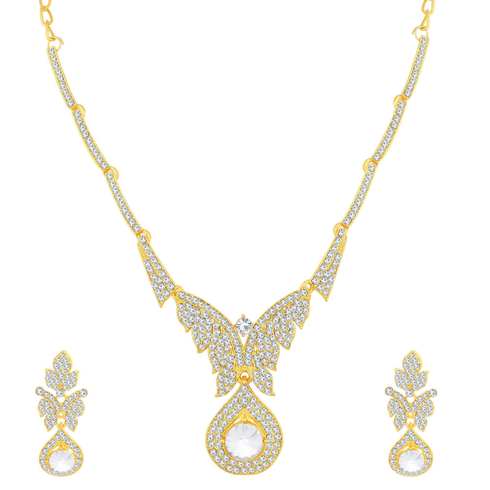 Sukkhi Resplendent Gold Plated Necklace Set For Women