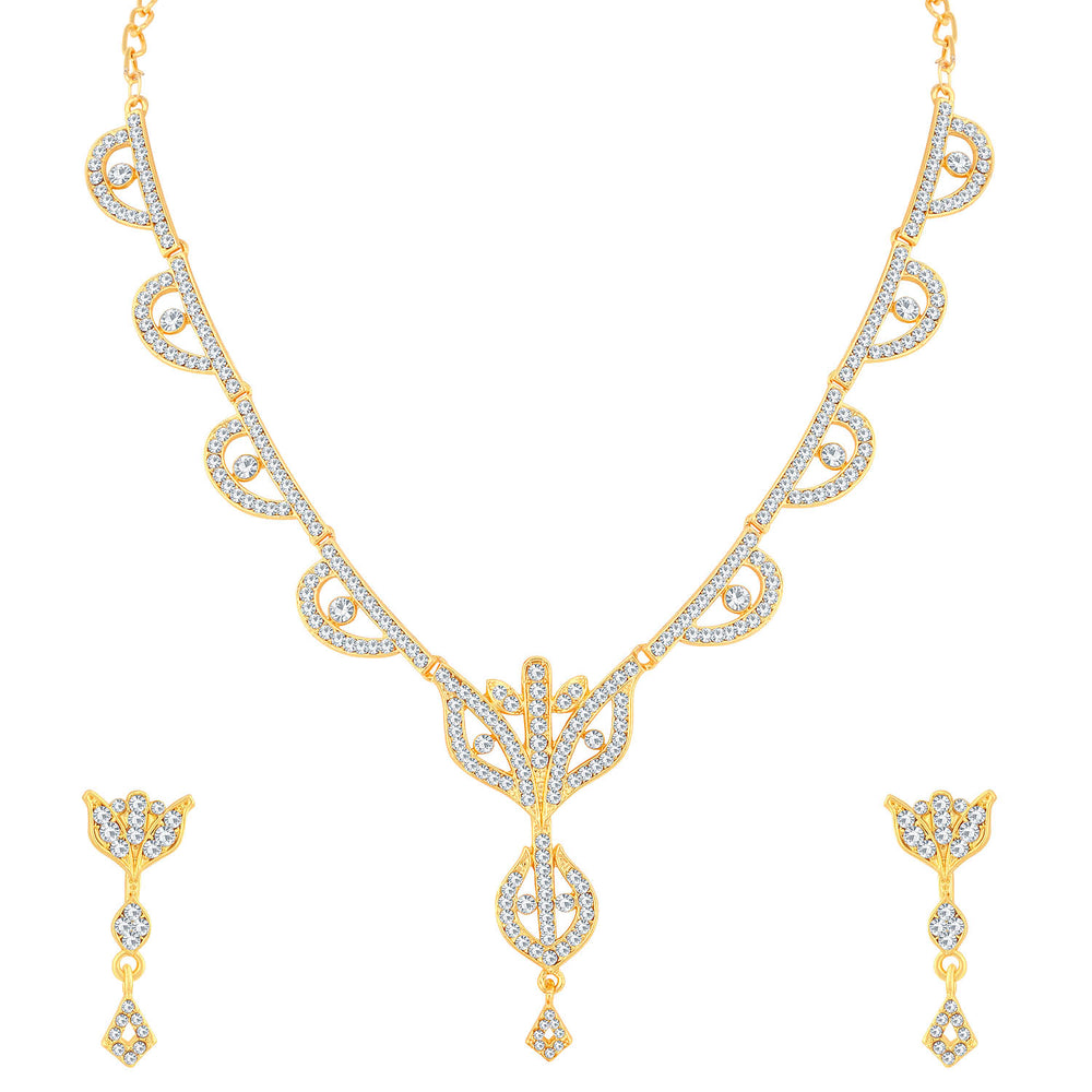 Sukkhi Pretty Gold Plated Necklace Set For Women