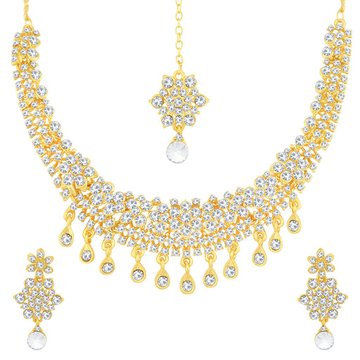 Sukkhi Delicate Gold Plated Floral Necklace Set For Women