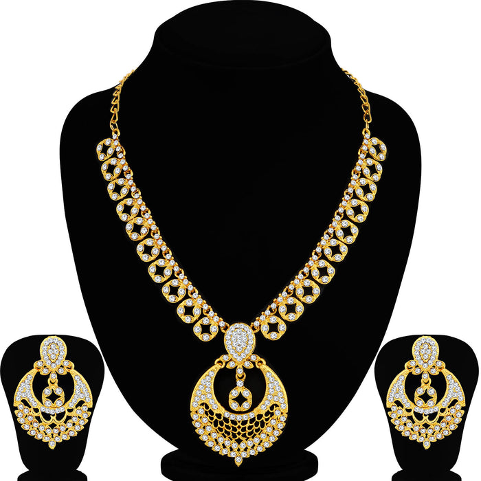 Sukkhi Ritzy Gold Plated Necklace Set For Women