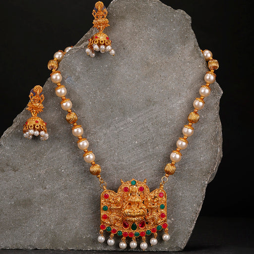 Sukkhi Sensational Temple Gold Plated Neckalce Set for Women