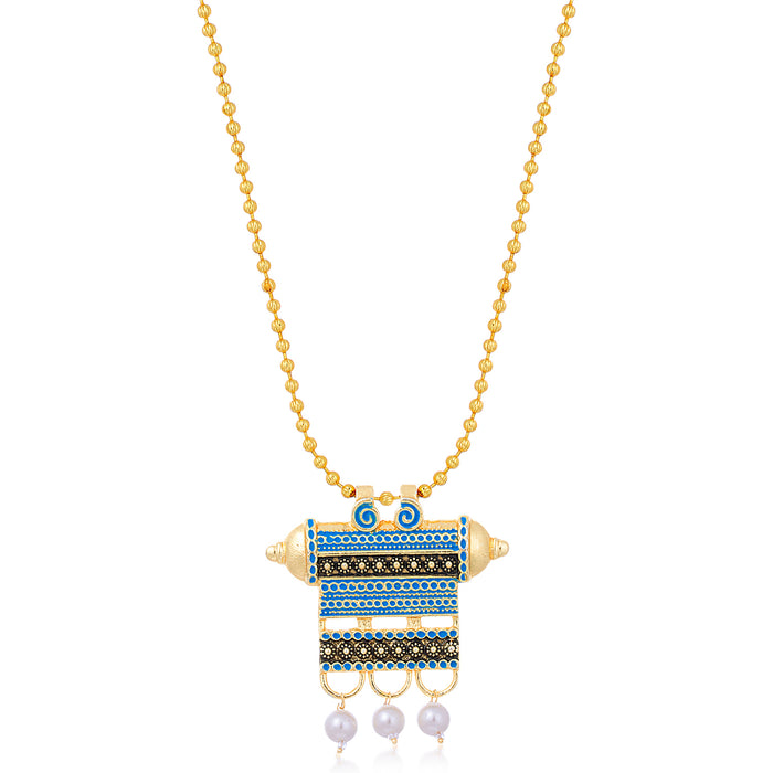 Sukkhi Fashionable Gold Plated Mint Collection Necklace Set For Women