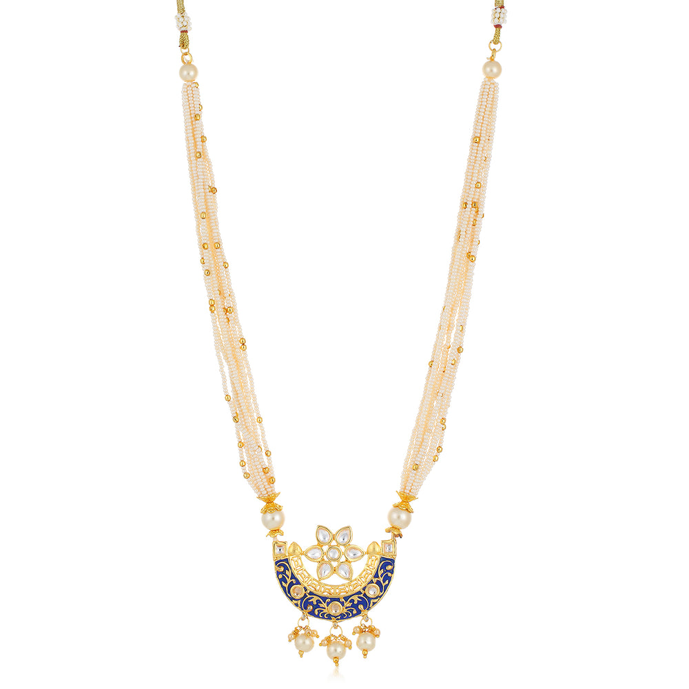 Sukkhi Adorable Collar Gold Plated Necklace Set Set for Women
