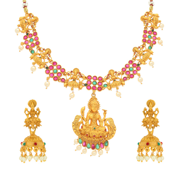 Sukkhi Sleek Gold Plated Necklace Set for Women