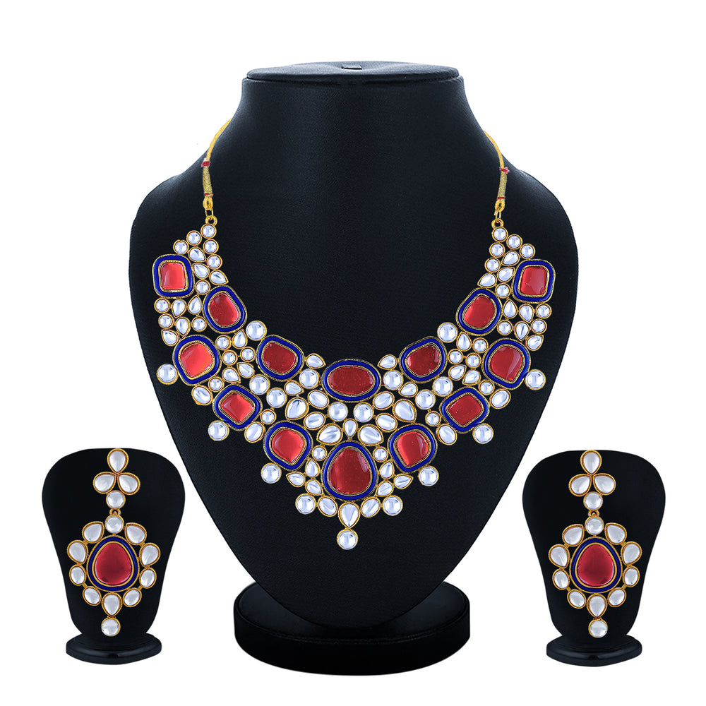 Sukkhi Stylish Gold Plated Necklace Set for Women