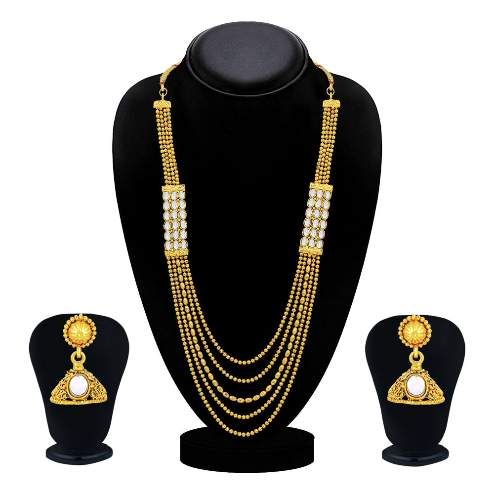 Sukkhi Adorable Gold Plated Necklace Set for Women