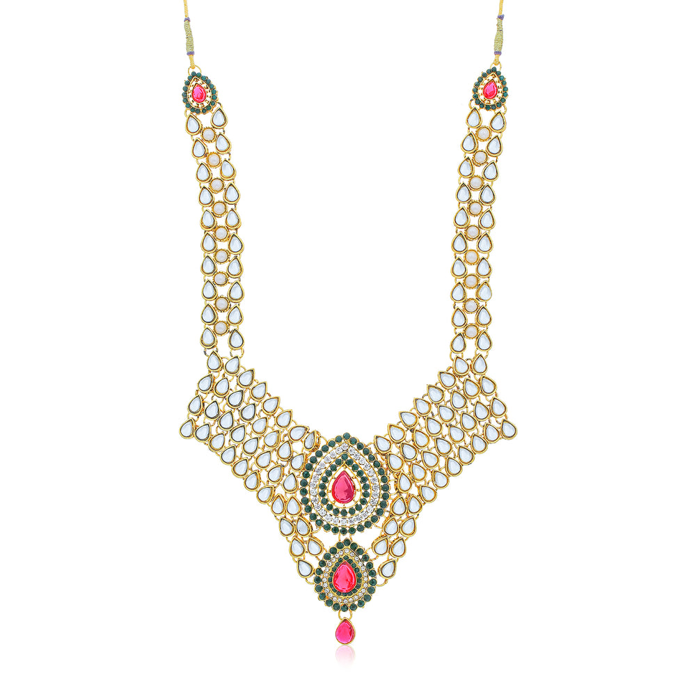 Sukkhi Modish Gold Plated Necklace Set for Women