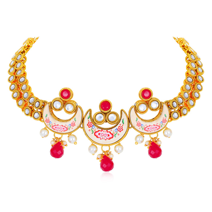 Sukkhi Excellent Gold Plated Necklace Set for Women