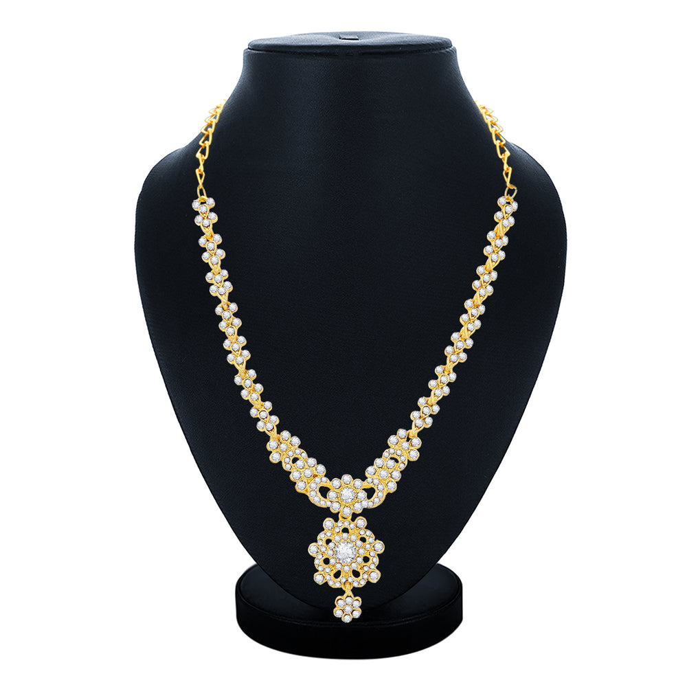 Sukkhi Brilliant Gold Plated Necklace Set For Women