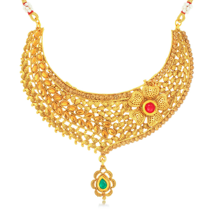 Sukkhi Glitzy Gold Plated Necklace Set for Women