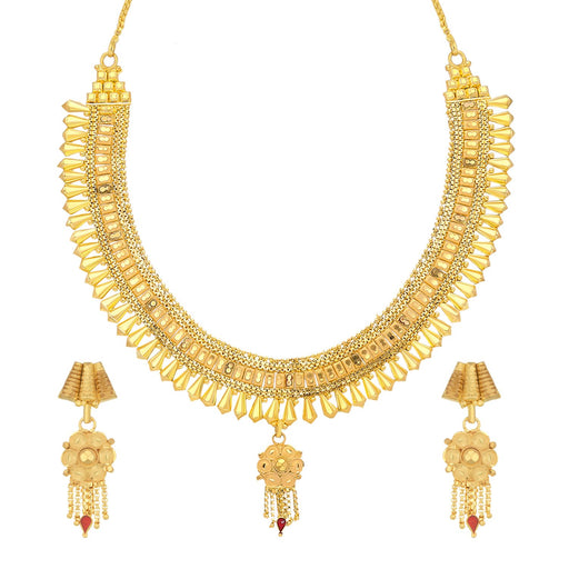 Sukkhi Precious 24 Carat 1 Gram Gold Plated Choker Necklace Set For Women