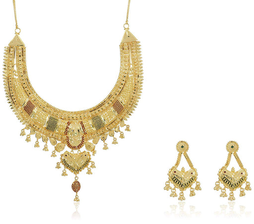 Sukkhi Beautiful 24 Carat 1 Gram Gold Plated Meenakari Choker Necklace Set For Women