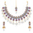 Sukkhi Classy Mint Collection Gold Plated Choker Necklace Set for Women