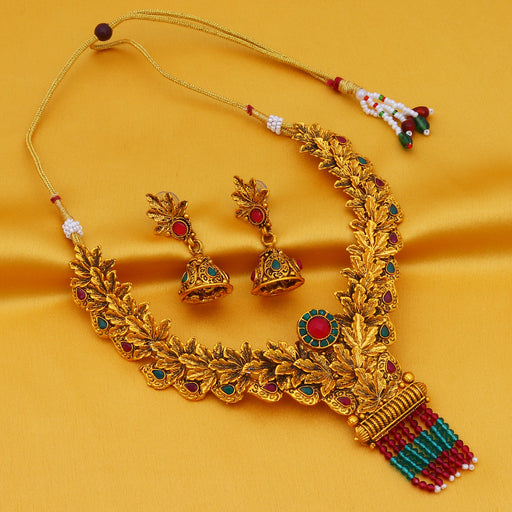 Sukkhi Elegant Gold Plated Choker Necklace Set For Women