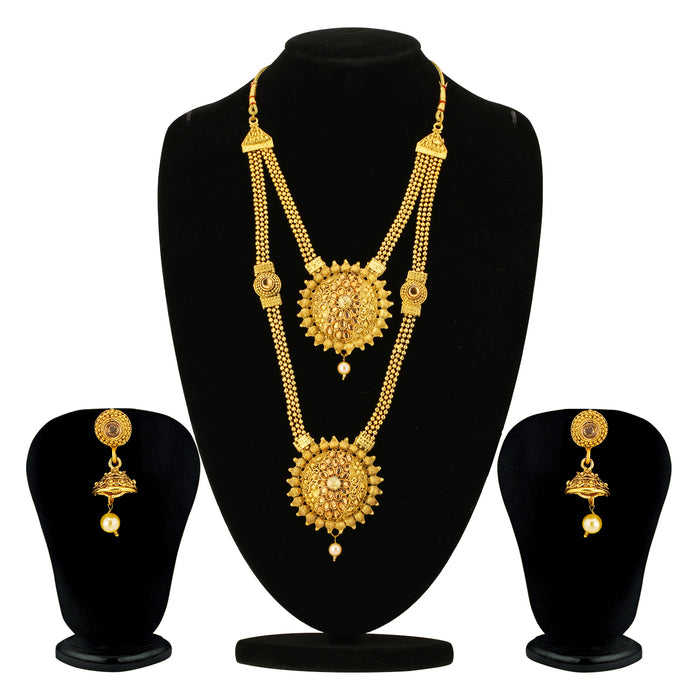 Sukkhi Alluring Gold Plated Long Haram LCT Necklace Set for Women