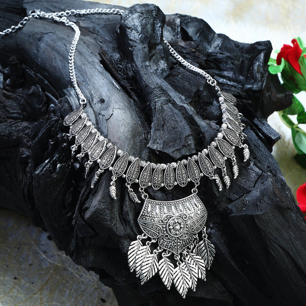 Sukkhi Graceful Oxidised Necklace for women