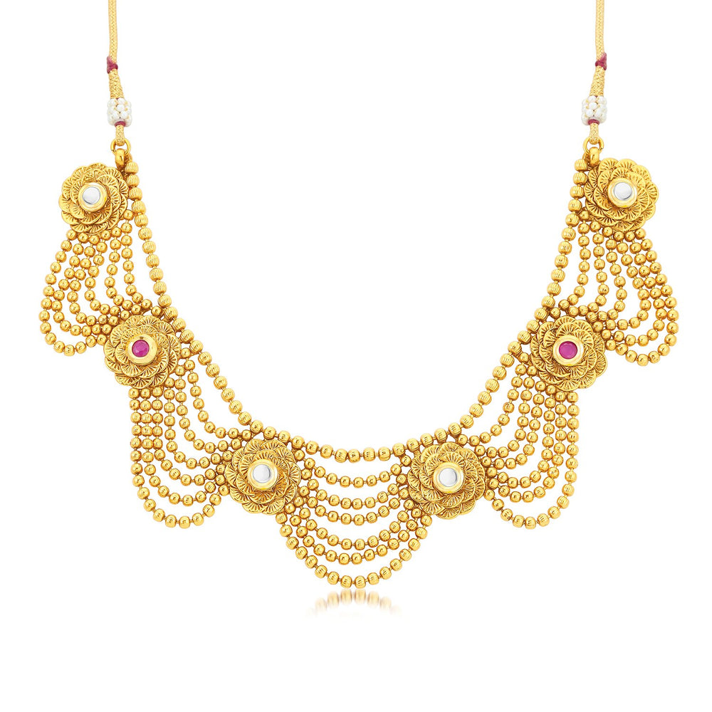 Sukkhi Lavish Choker Gold Plated Necklace Set