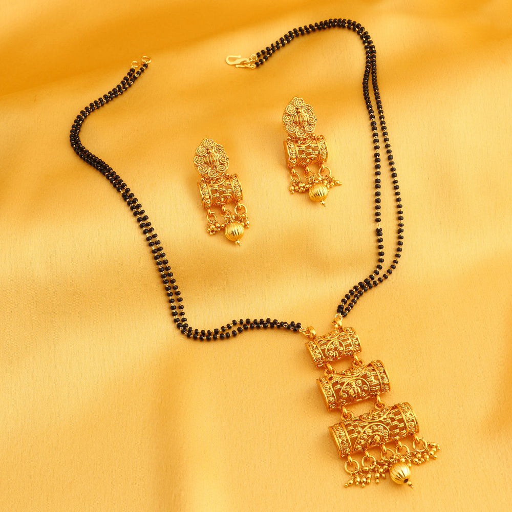 Sukkhi Classic Gold Plated Mangalsutra Set for Women