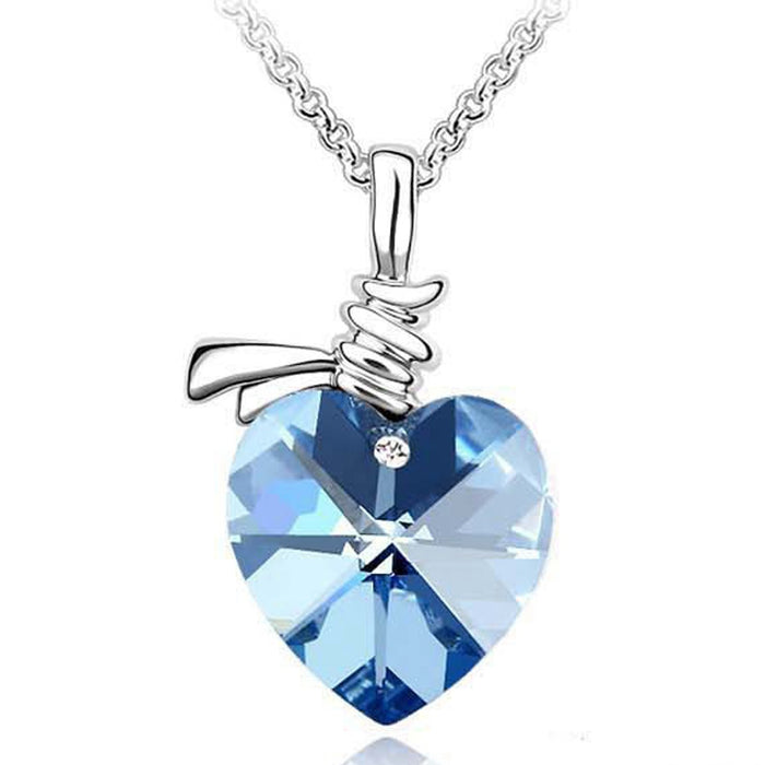 Sukkhi Ritzy Valentine Heart Crystal Rhodium Plated Pendant for Women