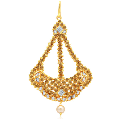 Sukkhi Classy Gold Plated AD With LCT Stone Passa For Women