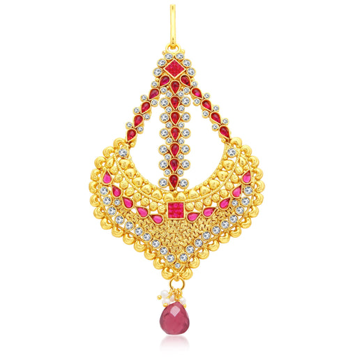Sukkhi Charming Gold Plated AD Passa For Women