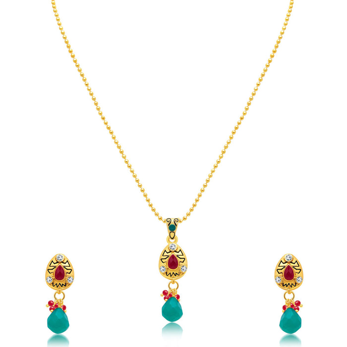 Sukkhi Classic Gold Plated Pendant Set For Women